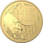 1 troy ounce gouden munt Lunar RAM serie