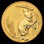 Lunar 1/20 Troy ounce gouden munt 2020