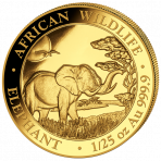 1/25 Troy ounce gouden munt Somalische Olifant