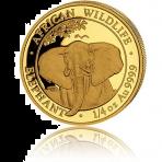 1/4 troy ounce goud Somalische Olifant munt