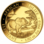 1/50 Troy ounce gouden munt Somalische Olifant
