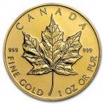 1 troy ounce gouden Maple Leaf munt verkopen