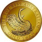 1 troy ounce gouden munt zwaan
