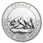 1,5 Troy ounce zilveren munt ijsbeer 2013