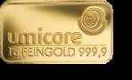 Goud baar 1 gram Umicore