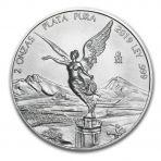 2 Troy ounce zilveren munt Mexican Libertad