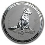 5 Troy ounce zilveren Lunar munt 2006
