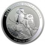 10 Troy ounce zilveren Kookaburra munten 2013