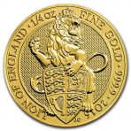 1/4 Troy ounce gouden munt Queens Beasts munten