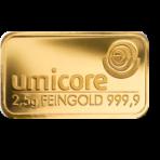 Goud baar 2.5 gram Umicore