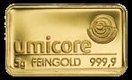 Goud baar 5 gram Umicore