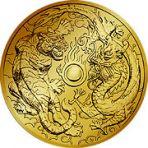2 troy ounce gouden munt dubbele dragon