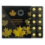 25x 1 gram gouden Maple Leaf