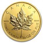 Gouden Maple Leaf 1/2 troy ounce puur goud