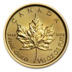 1/20 Troy ounce munt gouden Maple Leaf voorkant