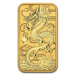 1 Troy ounce gouden munt baar Rectangular Dragon