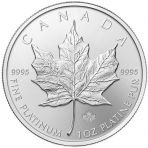 1 troy ounce platina Maple Leaf munt