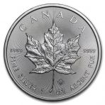 1 troy ounce zilveren Maple Leaf 2020
