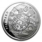 2 troy ounce zilveren munt Niue Hawksbill Turtle