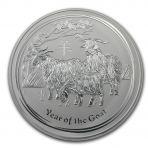 1 Kilo zilveren Lunar munt 2015