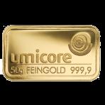 Goud baar 50 gram Umicore