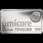 Zilver baar 1 troy ounce Umicore